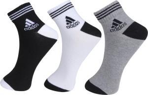 Adidas Men & Women Solid Ankle Length Socks