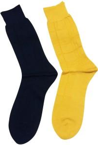 Graceway Men's Self Design Crew Length Socks