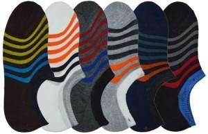 Tahiro Men & Women Striped Ankle Length Socks, Footie Socks, No Show Socks, Low Cut Socks