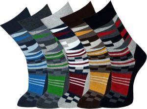 Vinenzia Men's Graphic Print Crew Length Socks