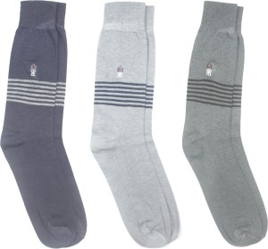 Yellow Mellow Men's Striped Mid-calf Length Socks
