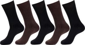Simon Men's Striped Crew Length Socks