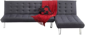 FabHomeDecor Corner Double Foam Sofa Bed