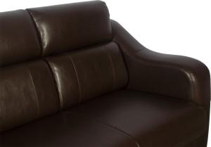 Godrej Interio Elite Leather 3 Seater Sofa Finish Color Brown Best