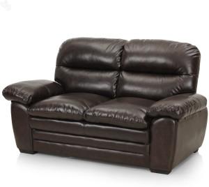 Royal Oak Brio Bonded Leather 2 Seater Sofa ( Finish Color   Brown )