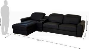 Godrej Interio Acoustica L Shape Blk Sofa Leatherette 3 Seater