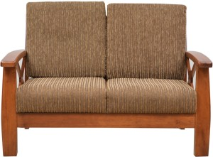 Hometown Winston Solid Wood 2 Seater Sofa Finish Color Dirty Oak