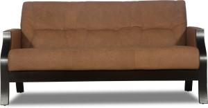 Godrej Interio Milos Leather 3 Seater Sofa Finish Color Brown Best