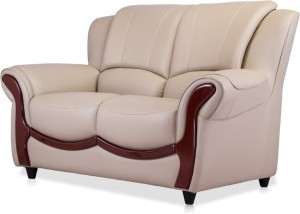 Durian Blos Leatherette 2 Seater SofaFinish Color   BEIGE