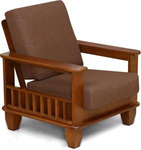 @home by Nilkamal ELENA Solid Wood 1 Seater Sofa