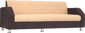 Bharat Lifestyle Italia 3 Seater Golden Brown Solid Wood 3 Seater Sofa
