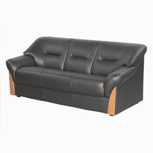 Godrej Interio Parto Plus 3st In S1n Lth Bla Solid Wood 3 Seater