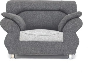 Bharat Lifestyle 107 1 seater Light Grey Solid Wood 1 Seater Sectional