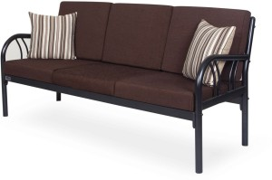 ac216a1856b FurnitureKraft Florence Fabric 3 + 1 + 1 Black Sofa SetConfiguration -  Straight