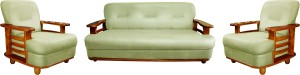 Knight Industry Leatherette 3 + 1 + 1 Walnut Brown Sofa Set