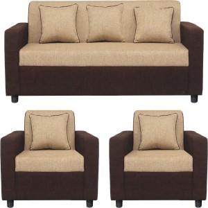 Gioteak Fabric 3 + 1 + 1 CREAM BROWN Sofa Set