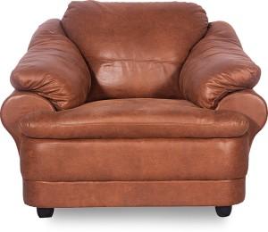 Godrej Interio Jineiro Leatherette 3 2 1 Camel Brown Sofa Set