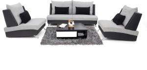 Furnicity Fabric 2 + 1 + 1 Light Grey Sofa Set