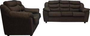 Woodpecker Rose Solid Wood 3 + 2 Black Sofa Set