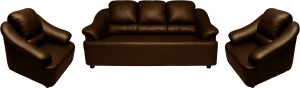 Knight Industry Leatherette 3 + 1 + 1 BROWN Sofa Set