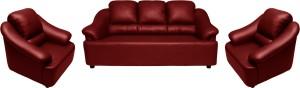 Knight Industry Leatherette 3 + 1 + 1 MAROON Sofa Set