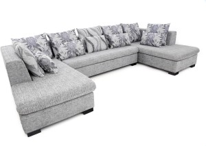 Furnicity Leatherette 3 + 3 Grey Sofa Set
