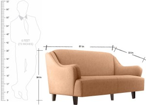 Fabhomedecor Austin Fabric 3 1 Camel Sofa SetConfiguration