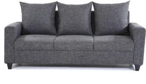 Furnicity Fabric 3 Seater Sofa Finish Color Grey Best Price in India ...