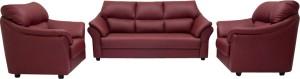 Woodpecker Lotus Solid Wood 3 + 1 + 1 Burgundy Sofa Set