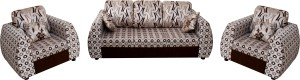 Knight Industry Fabric 3 + 1 + 1 BROWN Sofa Set