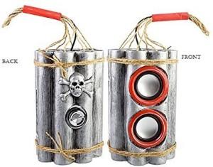 Shrih USB Rechargeable Bomb shell Speaker Portable Home Audio Speaker