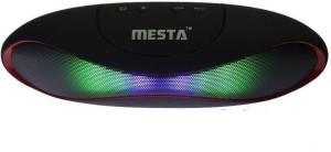 Mesta mini-1.0 Bluetooth speaker With Led Light Red Portable Bluetooth Laptop/Desktop Speaker