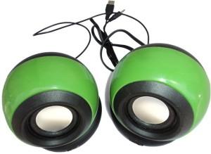 Ad Net Usb 2.0 Wired Mini (Green 2.0 Channel) Portable Laptop/Desktop Speaker