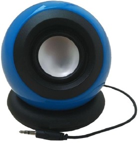 Ad Net Blue Mini RechargeableWired Portable Mobile/Tablet Speaker