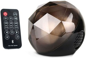 Shrih LED Multicolored Color Changing Crystal Magic Ball With Remote Control Portable Bluetooth Mobile/Tablet Speaker