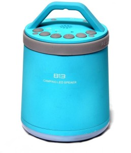 HiTechCart B13 TF MP3 Player and Handsfree Surround Sound & Super Bass with led Torchfor Camping Portable Bluetooth Mobile/Tablet Speaker