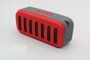 Pinglo Mini Bluetooth Speaker Wireless Stereo Music Player TF card/USB/FM Radio (Red) NR-2013 Portable Bluetooth Mobile/Tablet Speaker