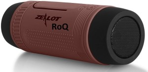 ROQ Zealot S1 Sports Music With LED Flash Light 4000mAh Power Bank USB TF Card Aux Support Waterproof Wireless With Mic Portable Bluetooth Mobile/Tablet Speaker