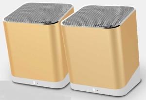 TRENDWOO TWINS Gold Bluetooth Dual Portable Bluetooth Mobile/Tablet Speaker