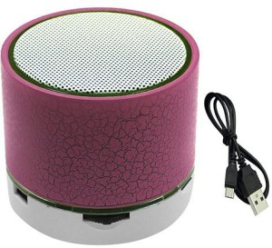 Kumar Retail Mini Portable Bluetooth Wireless Speaker with Colorful LED Light and Build-in Mic, Support USB/AUX/TF Portable Bluetooth Mobile/Tablet Speaker