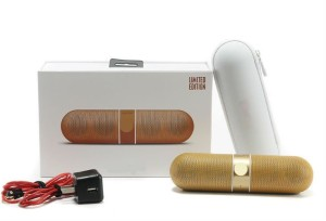 Finger's Limited Edition Pill Big Sound Box Golden Portable Bluetooth Mobile/Tablet Speaker