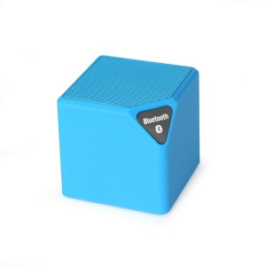 Finger's MINI X-3 Blue Cube Portable Bluetooth Mobile/Tablet Speaker