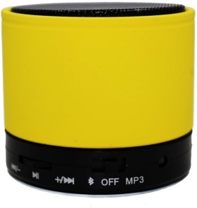 HAPS S10 Wireless Portable Mini Bluetooth Spreaker_Yellow Portable Bluetooth Mobile/Tablet Speaker