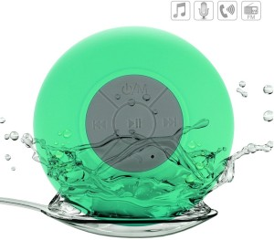 ShoppingKiSite Shower Bluetooth Speaker Waterproof Wireless Portable Audio System & Speakerphone Water Resistant + Suction Cup + Hands-free Calling + Stereo Mic + Universal Bluetooth 3.0 for All Devices Portable Bluetooth Mobile/Tablet Speaker