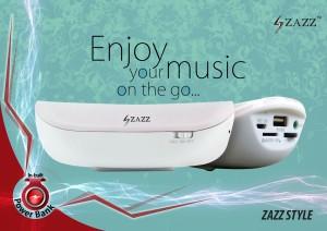 Zazz ZAZZ Power Bank Bluetooth Speaker ZBS136 PINK Portable Bluetooth Mobile/Tablet Speaker
