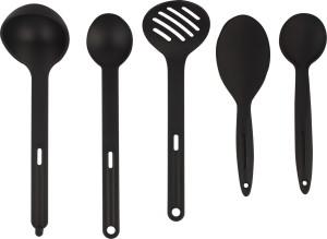 Tupperware 1 Rice Spoon 2 Curry Spoons 1 Sumbor Spoon 1 PurFarated Spoon Plastic Serving Spoon Set