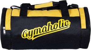 6fb25621340f Dee Mannequin Fitness Aholic Gym Bag Yellow Black Best Price in ...