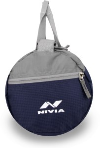 0f4ac24dd243 Nivia Beast 3 Gym Bag Duffel Blue Grey Kit Bag Best Price in India ...