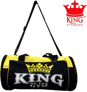 KING FITNESS EXCLUSIVE GYM BAG BLACK YELLOW Duffel