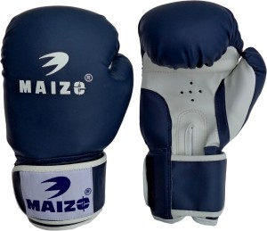 Maizo Striker Training Gloves 12 Oz Boxing Gloves (M, Blue, White)